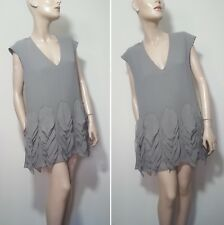 🦄By Malene Birger Gemma Size 38 10 12 100% Silk Grey Tunic Top Summer Dress