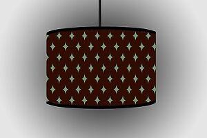 30cm Dark Brown Drum Lampshade Handmade Ceiling Lamp Pendant Lampshades Vertical