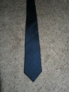 Vintage Christian Dior neck Tie All Silk Paris New York Navy Blue