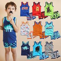 """Vaenait Baby Clothes Toddler Boy Boxer Underwear Undershirt  """"Pattern set"""" 2T-8T"""