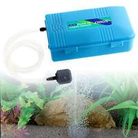 Aquarium Battery Operated Tank Air Fish Pump Aerator Oxygen w/Air stone Portable