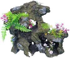 Aquarium Rock with Plants Fish Tank Decoration - ROPL303