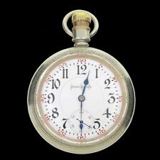 Illinois 1923 Bunn Special Model 6 RR 24J Pocket Watch Alaska 18S Swing-Out Case