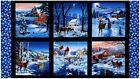 .6 Yard Cotton Fabric - Elizabeth's Studio Country Christmas Scenic Panel