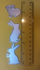 universal metal die cut tool 3 nature Easter chocolate bunny rabbit card scrapbo