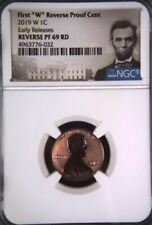 """2019-W LINCOLN First """"W"""" REVERSE PROOF CENT 1c EARLY RELEASES NGC REV PF69RD"""