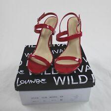 Wild Diva Heel Sandal Red Open Toe Women Size 8.5
