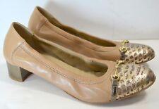 (Size 10.5 / 40,5) AGL Snakes Bit Cap toe Ballet Pump Heel