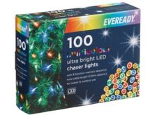 NEW CHRISTMAS EVEREADY ULTRA BRIGHT 100 LED MULTI COLOUR CHASER LIGHTS