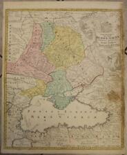 CRIMEAN PENINSULA RUSSIA & UKRAINE 1720 HOMANN ANTIQUE COPPER ENGRAVED MAP