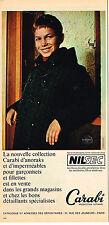 PUBLICITE ADVERTISING 084 1963 CARABI collection manteaux enfants         030814