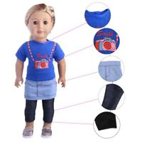 3pcs Baby T-shirt/Skirt/Leggings  Doll Clothes 18in Toy Doll Gift for Children