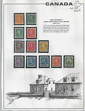 CANADIAN MINT STAMP COLLECTION,#162-173 M-NH,$172.00 US$ CATALOGUE