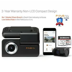 FineVu GX30 WiFi Dashcam 32GB - 32GB, FHD Dual, Non-LCD, Speed Alert