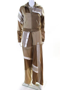 Adidas Danielle Cathari Womens Track Pant Set Beige Size Extra Small