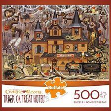 Buffalo Games Charles Wysocki Trick Or Treat Hotel 500 Piece Jigsaw Puzzle New