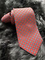 Preowned Turnbull & Asser England  Mens 100% Silk Neck Tie 55.5 In X 3.5