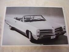 1966  PONTIAC  BONNEVILLE CONVERTIBLE 11 X 17  PHOTO  PICTURE