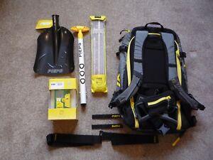 Ski Touring, Pieps, Transceiver, Shovel, Probe,Touring Bag, Avalanche Safety NEW