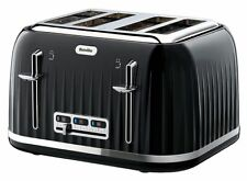 Breville Vtt476 Impressions 4 Slice Toaster - Black -  Super Fast Delivery