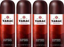 4x Tabac Original Deodorant Body Spray 150ml