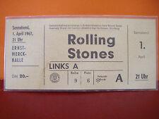 "The Rolling Stones 7"",12"" = Konzert- Eintrittskarte 1.April 1967 Hamburg"