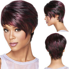 30cm Fluffy Bob Ladies Synthetic Full Wig Women Short Hair Cosplay Wigs Wine Red
