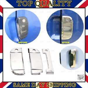 Chrome Door Handle Cover 3 dr S.STEEL for VW T4 Transporter 1995-2003 RHD DRIVE