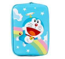 Doraemon Licensed Rainbow Blue Pen Pencil Multi-Purpose Pouch Case Stationery