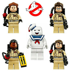 Ghostbusters + Stay Puft Marshmallow Man Minifigures Set Pop Building Blocks