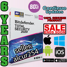 Bitdefender Total Security 2020 - 6 Years | Download Link WIN MAC ANDROID