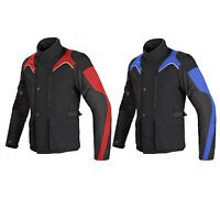 Mens Thermal Motorcycle Motorbike  Biker Leather Racing Riding Protection Jacket