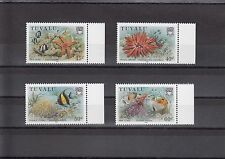 TIMBRE STAMP 4 ILE TUVALU  Y&T#400-03 POISSON CORAIL NEUF**/MNH-MINT 1986 ~A15