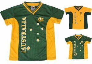 Kids Sports Soccer Football Rugby Jersey Top T Shirt Tee Australia Souvenir A