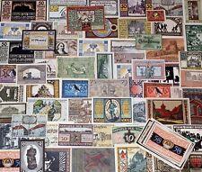 Lot / Konvolut 100 Original  Notgeld, Not Geldscheine, Stadtgeld (033)