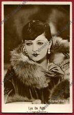 LYA DE PUTTI 48 ATTRICE ACTRESS CINEMA MUTO SILENT MOVIE REAL PHOTO 1929