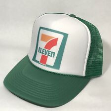 Vintage Style 7 Eleven Truck Stop Store Gas Oil Trucker Hat Snapback Cap Green