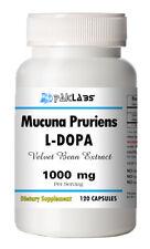 Mucuna Pruriens 1000mg Natural L-DOPA 15% BEST DEAL 120 Capsules Velvet Bean