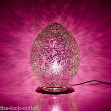 Mosaic Medium Egg Lamp - PINK Bedroom/Table Light Mood Lighting