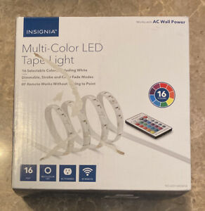 Open-Box Excellent: Insignia- 16 ft. Multi-Color LED Tape Light - Free Shipping!