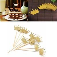 50 Pcs Glitter Crown Cake Topper Wedding Birthday Party Decor BABY SHOWER--