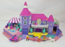 Polly Pocket LIGHT UP Magical Mansion Figures  Playset Pollyvile  Excellent