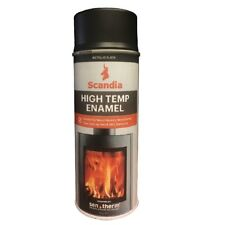 Scandia METALLIC BLACK HIGH TEMP ENAMEL 400g 1m Coverage Per Can *Aust Brand