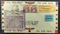1938 FFC FAM 17 Baltimore MD USA First Flight Airmail Cover To Hamilton Bermuda