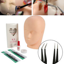 Mannequin Training Head for Eyelash Extension Practice Kit Make Up Practice Set