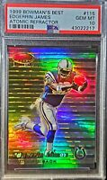 1999 Bowman. Edgerrin James.ATOMIC REFRACTOR. RC (98/100) PSA 10 (POP 6) HOC85🔥