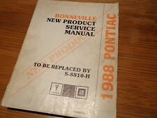 1988 Pontiac Bonneville NEW PRODUCT Service Manual OEM S-8810H-NP General Motors