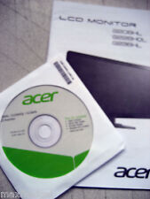 User manual, Quick Start guide, Acrobat reader, CD drivers for Acer LCD Monitor