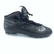 Adidas Mens Baseball Shoes Black Lace Up Mid Top  Cleats 15 M New