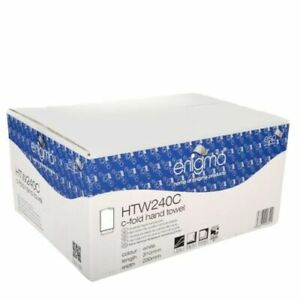 (Box of 2400) Enigma C-Fold Paper Hand Towels 2 Ply White HTW240C